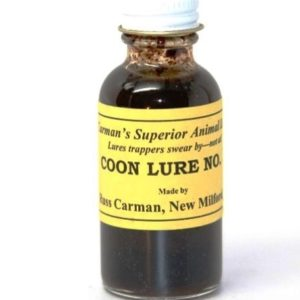 1 oz bottle of Carman Racoon Lure #1