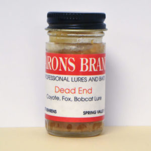 1 oz bottle Dead End Coyote, Fox, and Bobcat Lure.