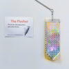 Brightly colored Holographic strip used to deter birds and other pests.