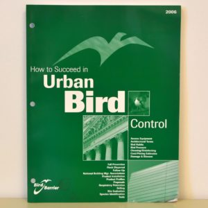how to succeed in urban bird control book.